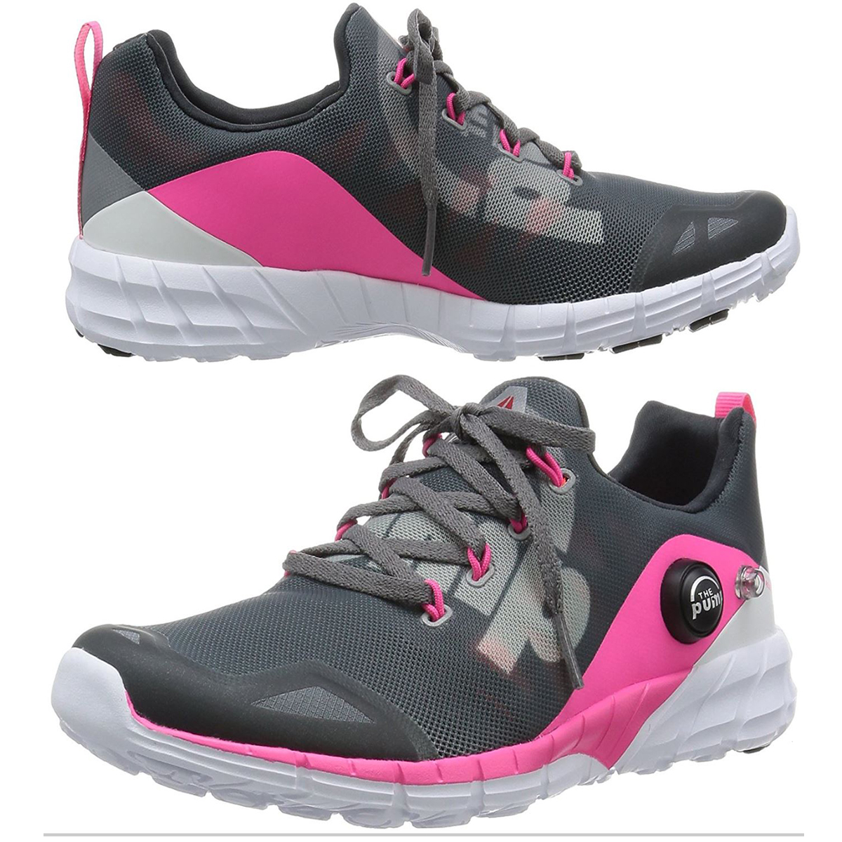 50a9ce7d7c4 Reebok ZPump Fusion Womens Running Fitness Training Trainer Shoe Grey Pink